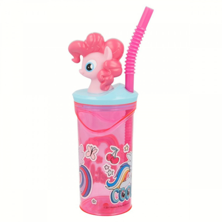Pahar My little Pony cu capac si pai plastic 360 ml2