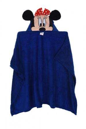 Patura copii cu gluga Minnie Mouse cocolino albastru 80 x120 cm0