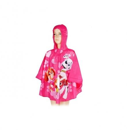 Pelerina poncho ploaie Paw Patrol, PVC, roz 7-8 ani0