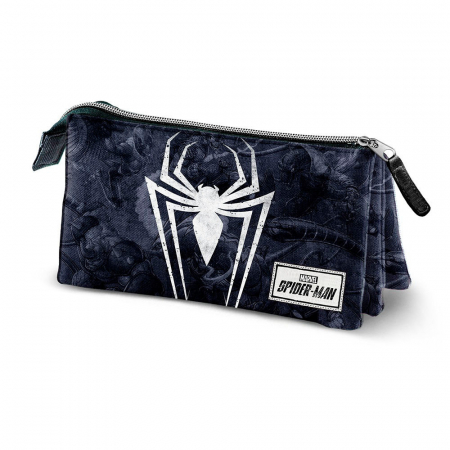 Penar triplu 3 fermoare Spiderman 'Poison' 23.5x11x5 cm3