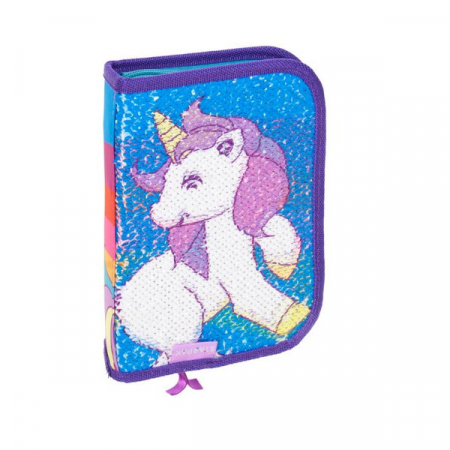 Penar Unicorn ,cu paiete, 1 compartiment, 13.5x20.5x4 cm0