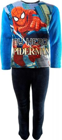 Pijama cocolino Spiderman bleu, 8 ani, 128 cm0