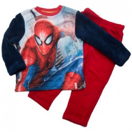 Pijama cocolino Spiderman rosu, 6 ani, 116 cm0