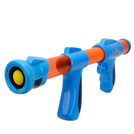 Pistol cu bile galbene spuma EVA, albastru0