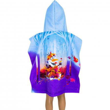 Prosop poncho cu gluga Frozen 55 X 110 CM1