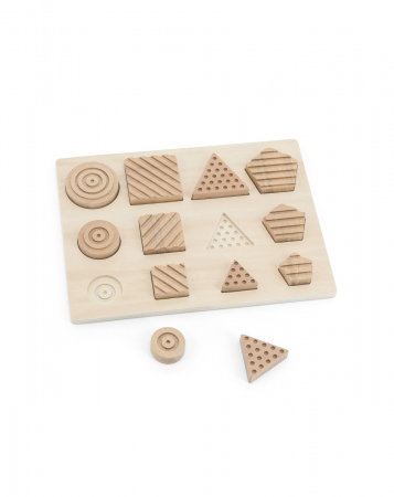 Puzzle senzorial forme geometrice, 12 piese [6]