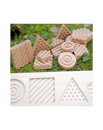 Puzzle senzorial forme geometrice, 12 piese [1]