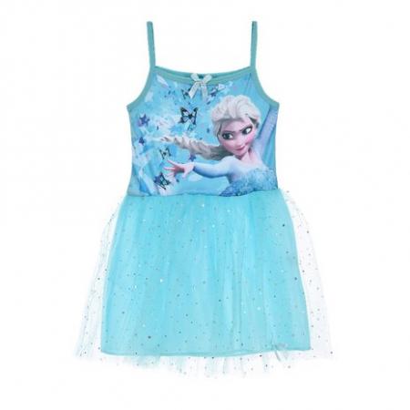 Rochie cu bretele Frozen bleu 8 ani [0]