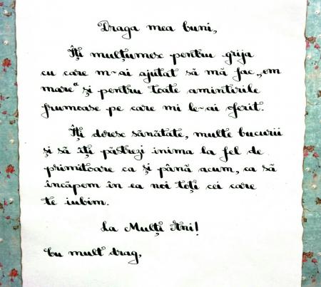 Scrisoare cadou pentru buni - papirus in sticla (model 6) [1]