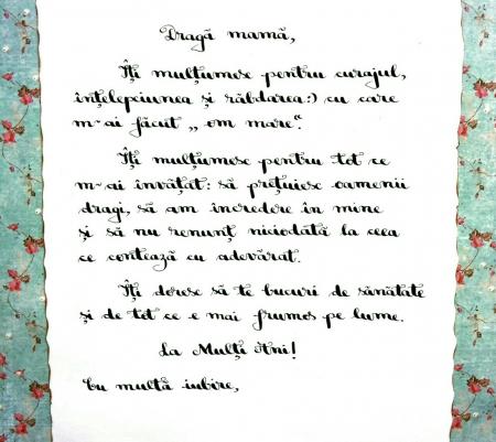 Scrisoare cadou pentru mama - papirus in sticla (model 16) [3]