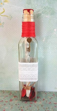 Scrisoare cadou pentru mama - papirus in sticla (model 21) [2]