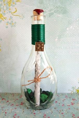 Scrisoare cadou pentru mama - papirus in sticla (model 4) [2]