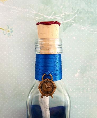 Scrisoare cadou pentru sot - papirus in sticla (model 6) [2]