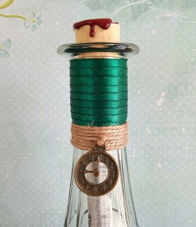 Scrisoare cadou pentru sot - papirus in sticla (model 5) [3]