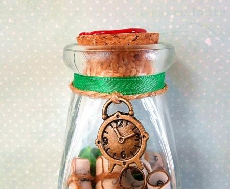 Scrisoare cadou pentru sot - puzzle in mini-borcan (model 5) [2]