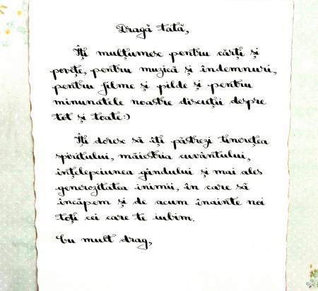 Scrisoare cadou pentru tata - papirus in sticla (model 6) [1]