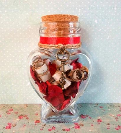 Scrisoare cadou pentru iubita - puzzle in mini-borcan 4 [0]