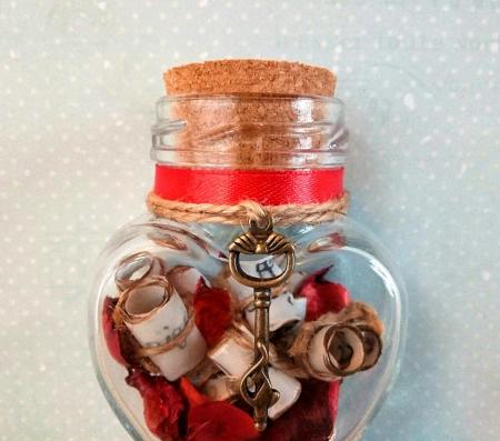Scrisoare cadou pentru iubita - puzzle in mini-borcan 4 [2]