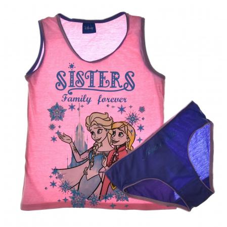 Set 2 piese, Frozen Anna si Elsa Sisters forever,maieu+chilot [1]