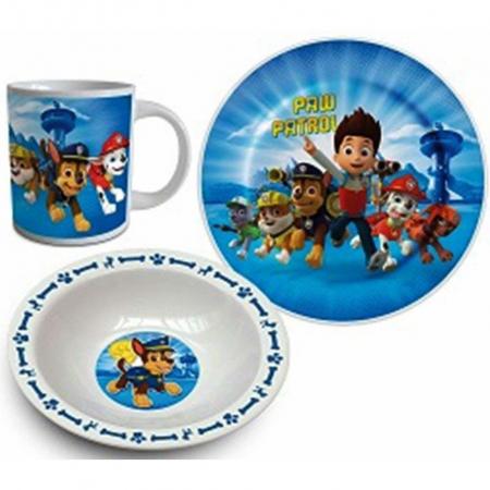 Set mic dejun 3 piese ceramica Paw Patrol boy [0]
