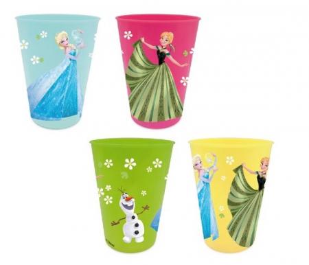 Set 4 pahare plastic multicolor Frozen 280 ml [0]