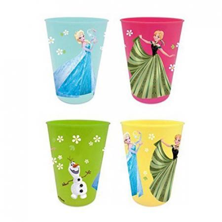 Set 4 pahare plastic multicolor Frozen 280 ml [1]