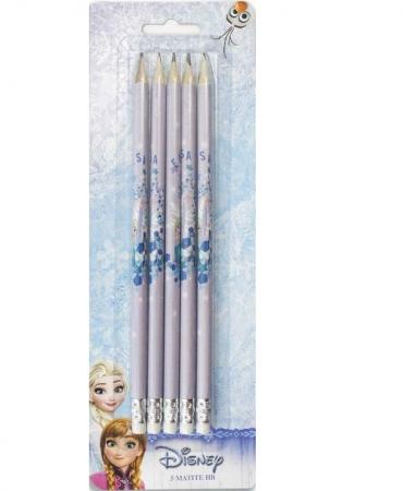Set 5 creioane HB cu guma de sters Frozen [0]