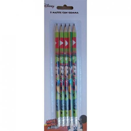 Set 5 creioane HB cu guma de sters Mickey Mouse [0]