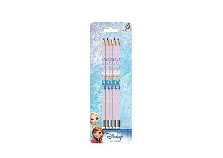 Set 5 creioane HB cu guma de sters Frozen [1]