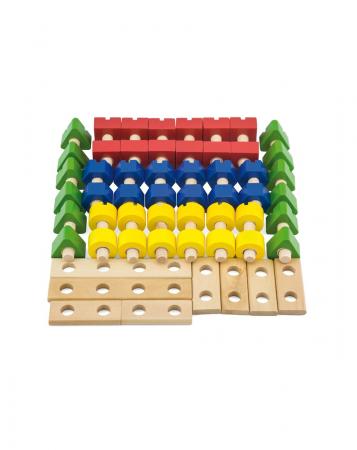 Set 56 piese lemn, Micul Mester [3]