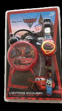 Set ceas birou Cars desteptator 10 cm + ceas de mana [1]
