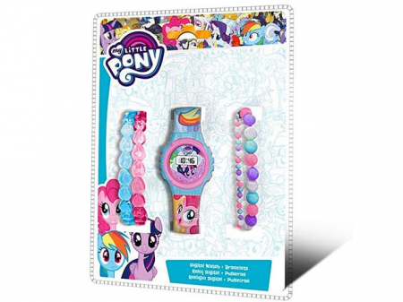 Set Ceas digital My Little Pony + bratari colorate0