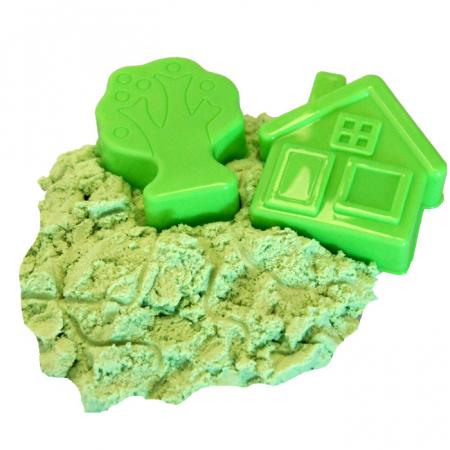 Set creativ 3D nisip kinetic verde+2 forme0