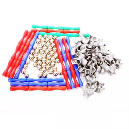 Set de constructie cu piese magnetice, 120 piese [2]