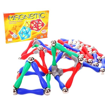 Set de constructie cu piese magnetice, 120 piese [1]
