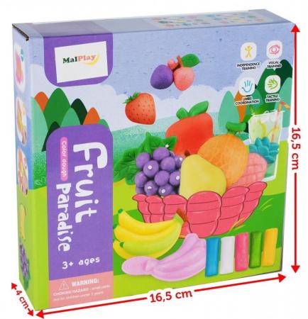 Set de joaca plastilina, Fructe [0]