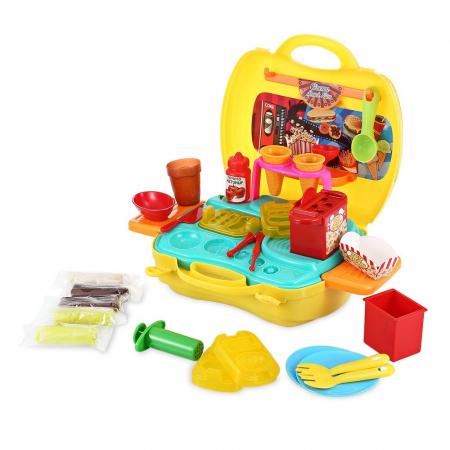 Set de joaca Snack bar valiza galbena 23X21X10 cm [2]