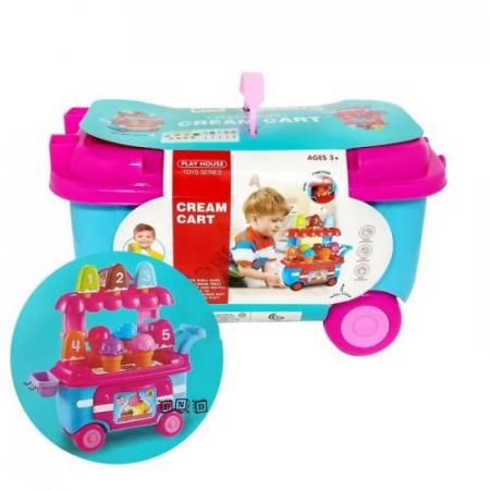 Set de joaca Stand de inghetata in mini carucior Ice Cream0