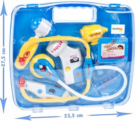 Set de joaca trusa medicala bleu 27,5x24x5,5cm [3]