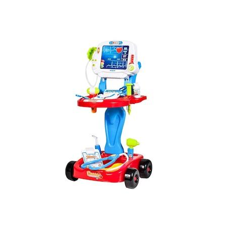 Set medical Ecograf portabil cu sunete si lumini, accesorii incluse, Albastru [0]