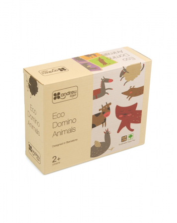 Set domino din lemn, animale 28 piese [0]