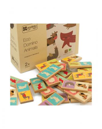 Set domino din lemn, animale 28 piese [2]