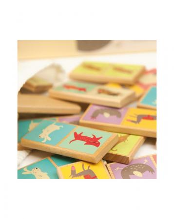 Set domino din lemn, animale 28 piese [1]