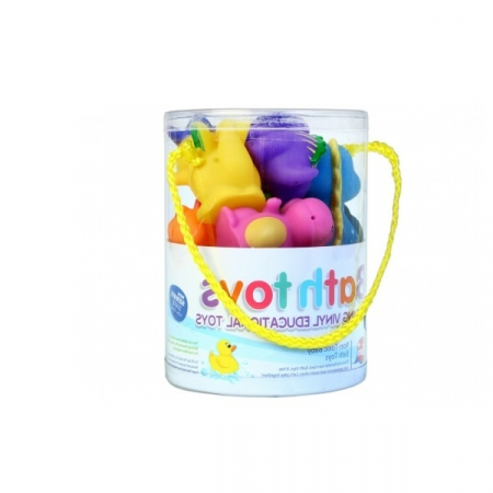 Set jucarie de baie, 6 piese, multicolor, +1 luna [4]