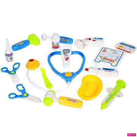 Set medical Ecograf portabil cu sunete si lumini, accesorii incluse, Albastru [3]