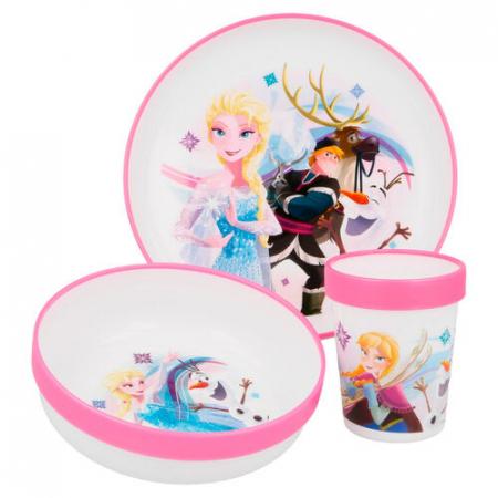 Set mic dejun 3 piese Frozen Olaf melamina0