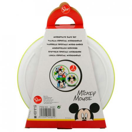 Set mic dejun 3 piese Mickey Mouse melamina2