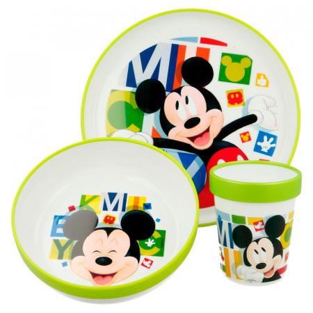 Set mic dejun 3 piese Mickey Mouse melamina0