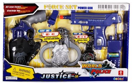 Set pistoale politie justice cu aceesorii1