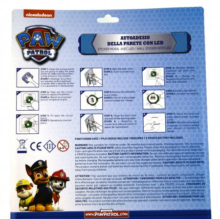 Sticker de perete cu led Paw Patrol, SunCity2